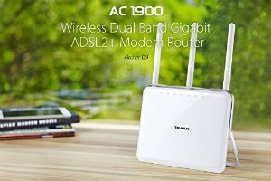 TP Link Archer D9 AC1900 Wireless Dual Band Gigabit ADSL2 Modem Router