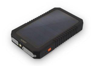 AUKEY 12000mAh Solar Charger with SunPower Solar Panels