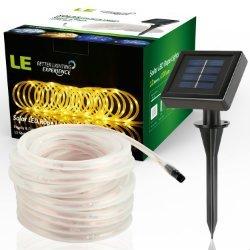 LE 100 LED Solar Rope Lights Waterproof