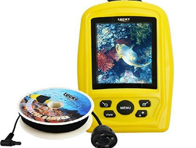 Lucky Fish Finder Monitor with Waterproof 20m Underwater Fish Inspection Camera