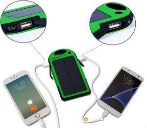 Yokkao 5000mAh Solar Charger Dual USB Ports