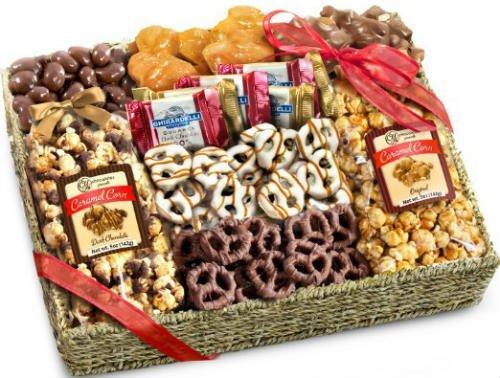 Chocolate Caramel and Crunch Grand Christmas Gift Basket