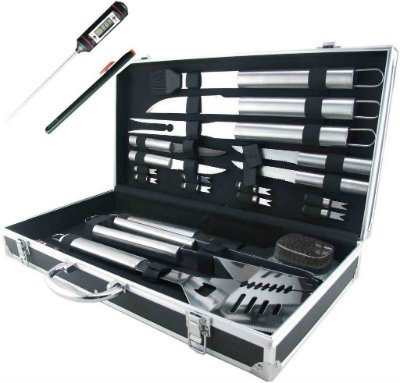 Grilling Accessories BBQ Tool Set Stainless Steel Storage Case