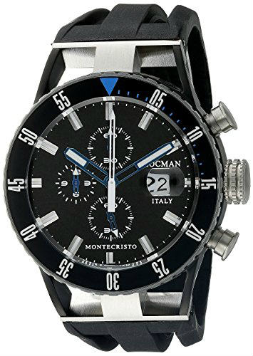 Locman Italy Montecristo Professional Divers Chronograph Analog Display Quartz Black Watch
