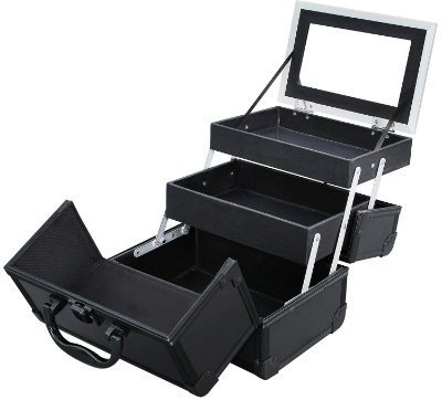 SONGMICS Portable Makeup Train Case