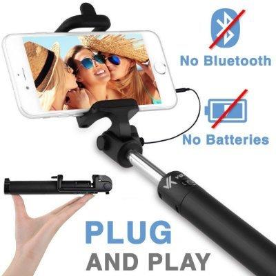 Voxkin Ultra Portable Wired Selfie Stick