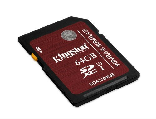 Kingston Digital 64GB SDXC UHS I Speed Class 3 Flash Card