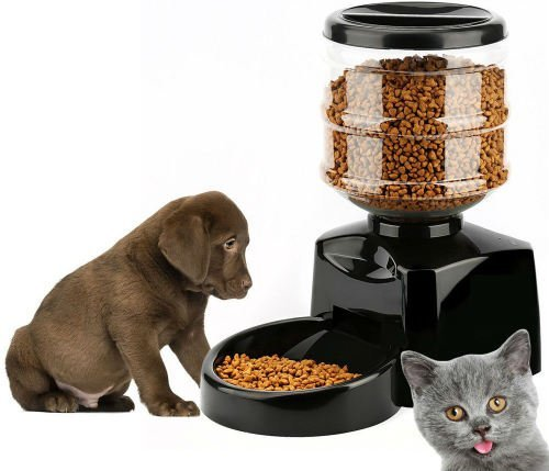 PYRUS Automatic Feeder Electric Pet Dry Food Container with LCD Display Large Automatic Feeder for Dogs Cats