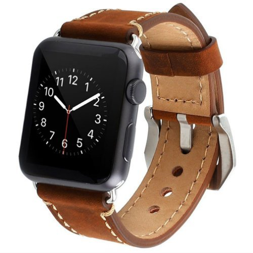 Genuine Leather strap for Apple Watch Sport
