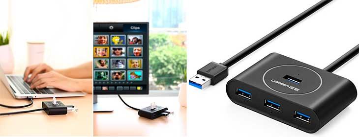 Low cost cheap budget USB 3 0 hub mac pc