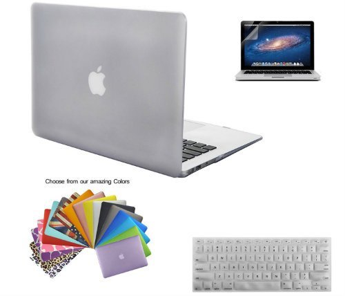 Macbook Air 13 Case TECOOL Hard Plastic Shell with Screen Protector and Keyboard Cover for MacBook Air