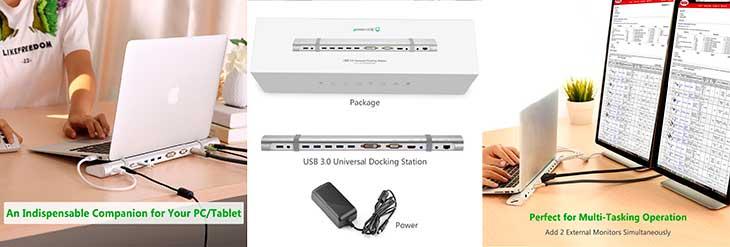 USB 3 0 hub powered with 5 ports Ethernet HDMI DVI VGA card reader audio micro input UGREEN