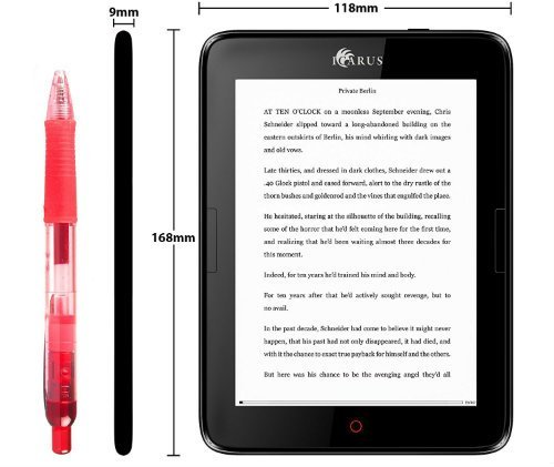 ebook reader with android os and google play support