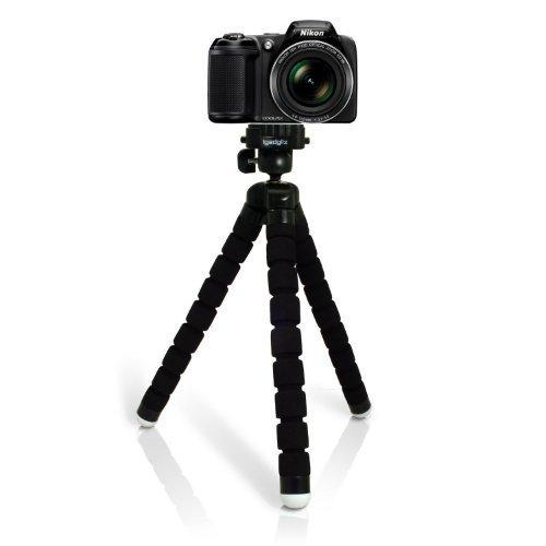 iGadgitz Large Universal Flexible Foam Mini Tripod for Nikon D Series SLR DSLR Cameras
