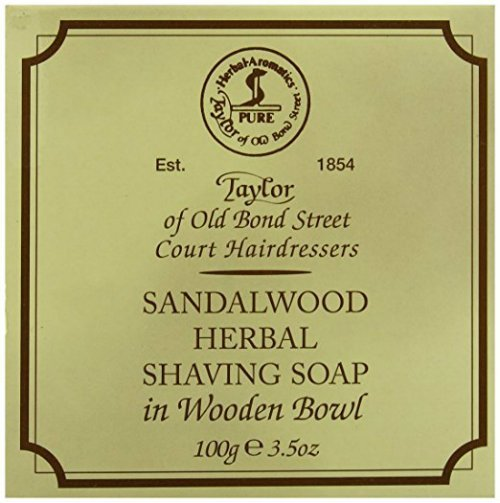 Taylor of Old Bond Street Sandalwood best Shaving Soap for safety razor