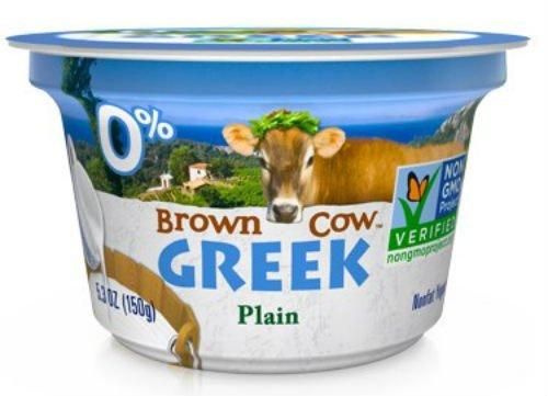 Brown Cow Plain Smooth and Creamy Non GMO Greek Yogurt