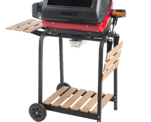 Easy Street Electric Cart Grill With Rotisserie