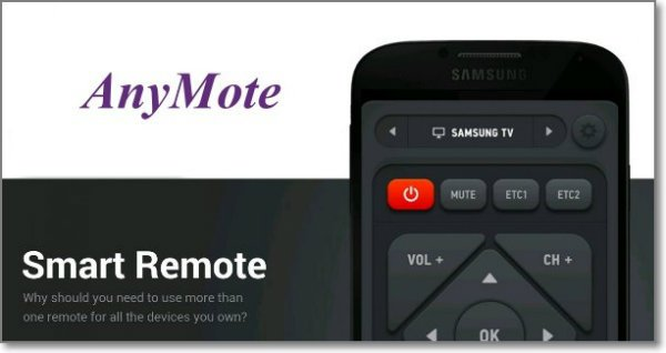 Smart IR Remote AnyMote Android app