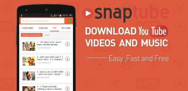 snaptube download for android mp3 download android