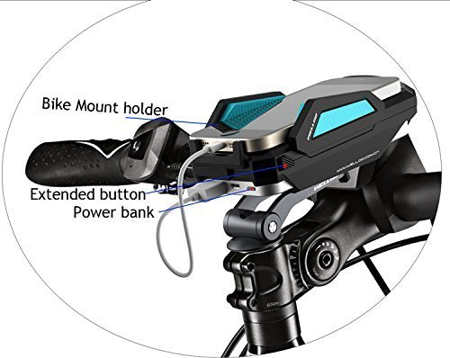 Eximtrade Universal Bike Mount Phone Holder with External Battery 6000mAh PowerBank for iOS and Android