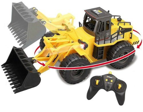 Top Race 6 Channel Full Functional Construction Tractor
