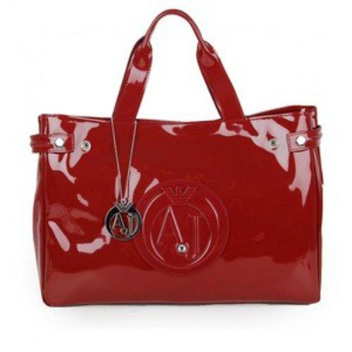 Armani Jeans Eco Patent Bowler Bag woman