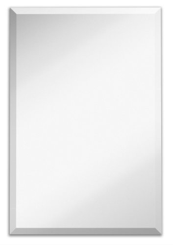 Large Simple Rectangular Streamlined 1 Inch Beveled Wall Mirror