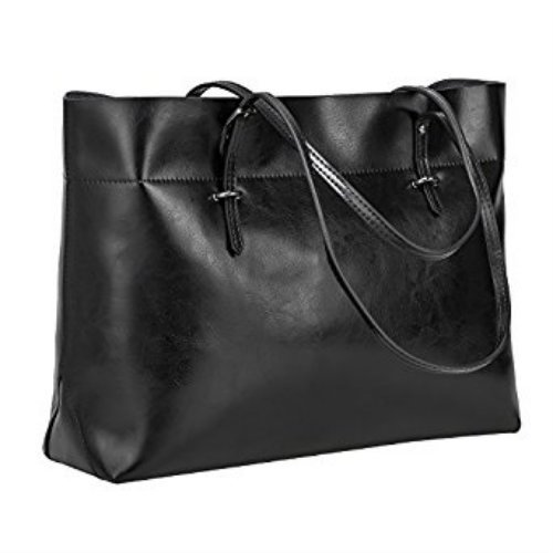 Womens Vintage Genuine Leather Tote Shoulder Bag Handbag