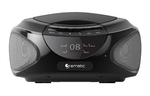 Ematic CD Boom box with Bluetooth Audio and Speakerphone