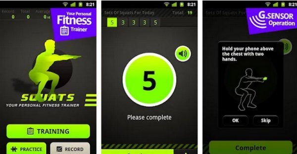 Squats Workout app android