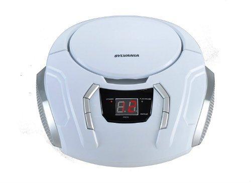 Sylvania SRCD261 C Portable CD Boombox with AM FM Radio
