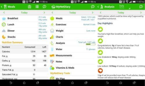 MyNetDiary android free app
