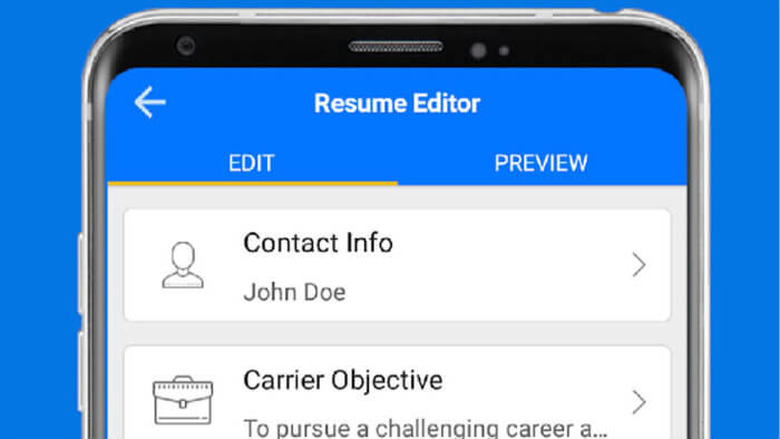 Best Free Resume Maker Apps For Android To Create Perfect Resumes